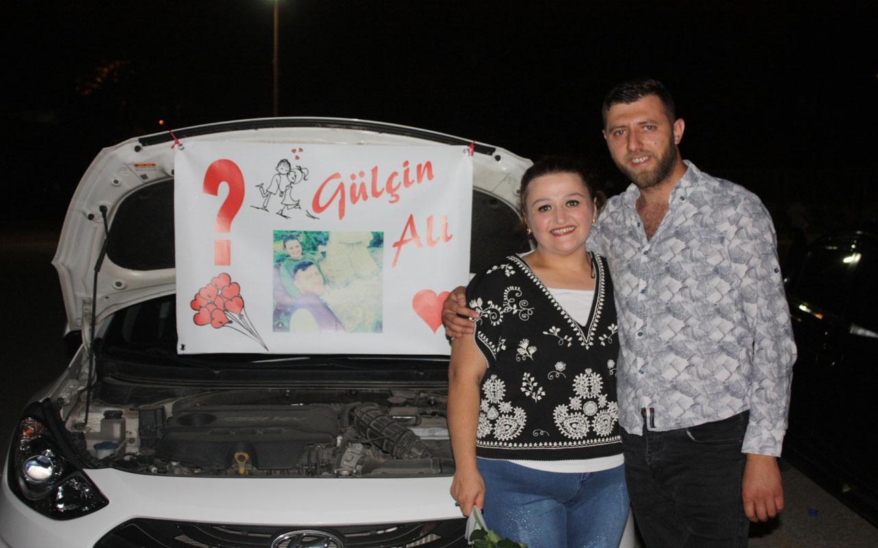 Bursa'daki ilginç evlilik teklifi görenleri şaşırttı!