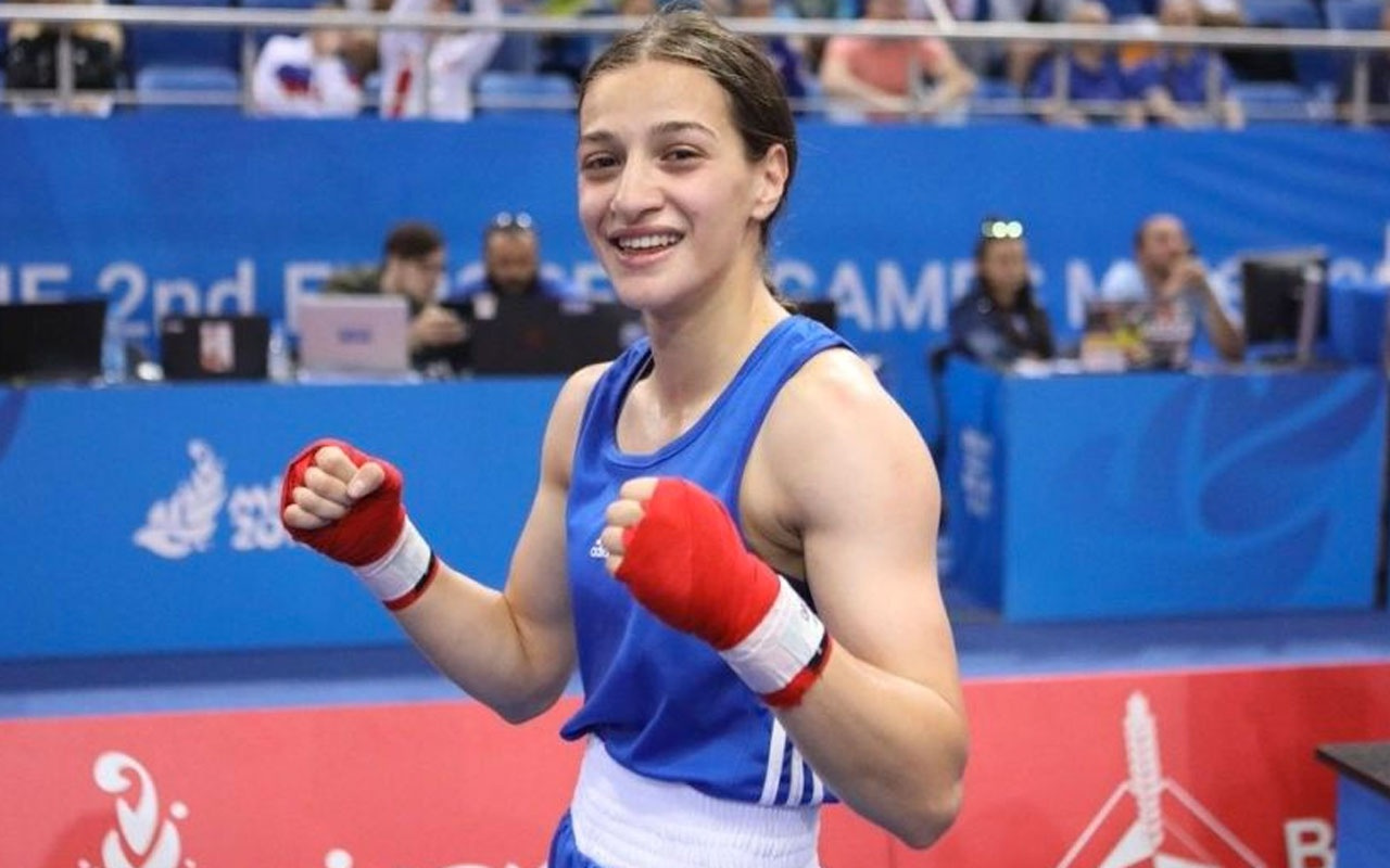 Türk Milli boksör Buse Naz Çakıroğlu'ndan 2019 Avrupa Oyunları'nda altın madalya!