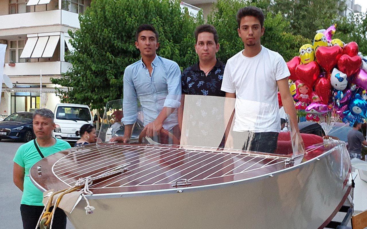 Öğrencilerin sürat teknesi, 7 bin 500 Euro'ya satışta