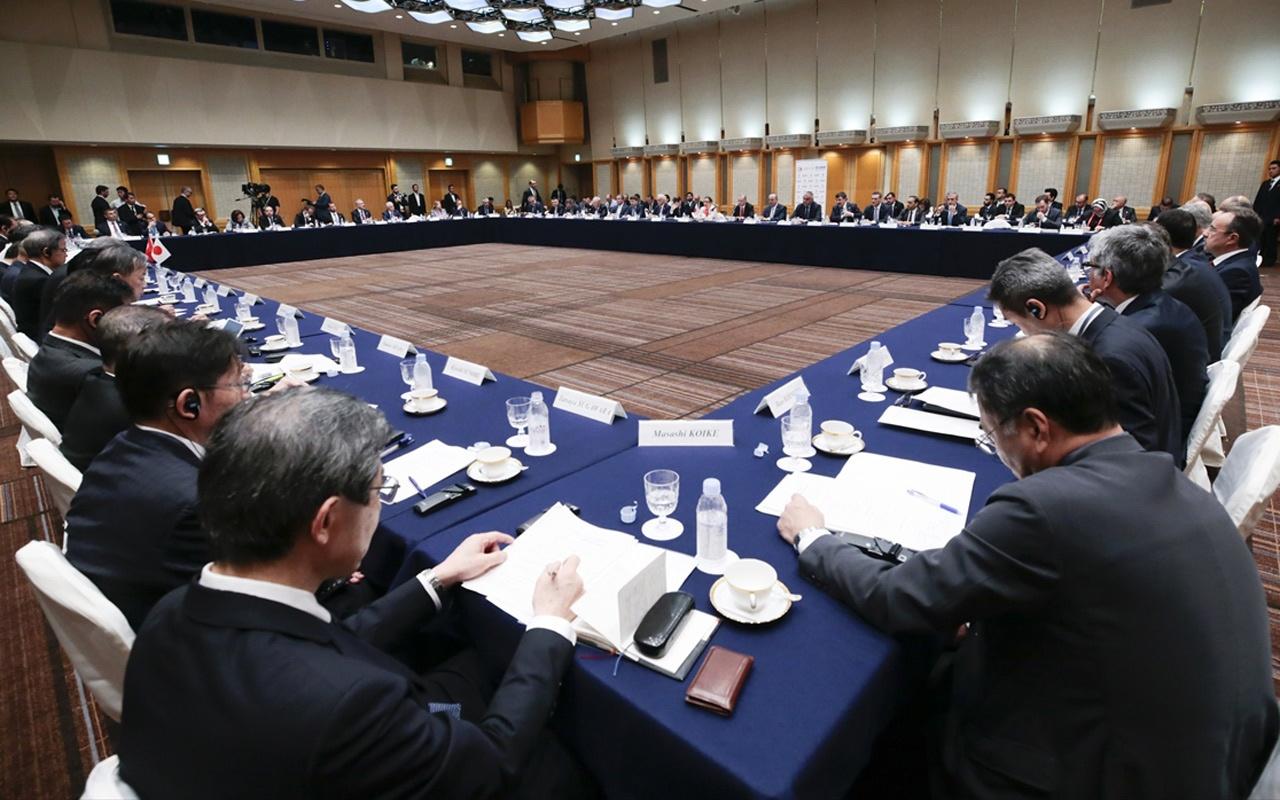 Cumhurbaşkanı Erdoğan Japon iş adamlarıyla buluştu