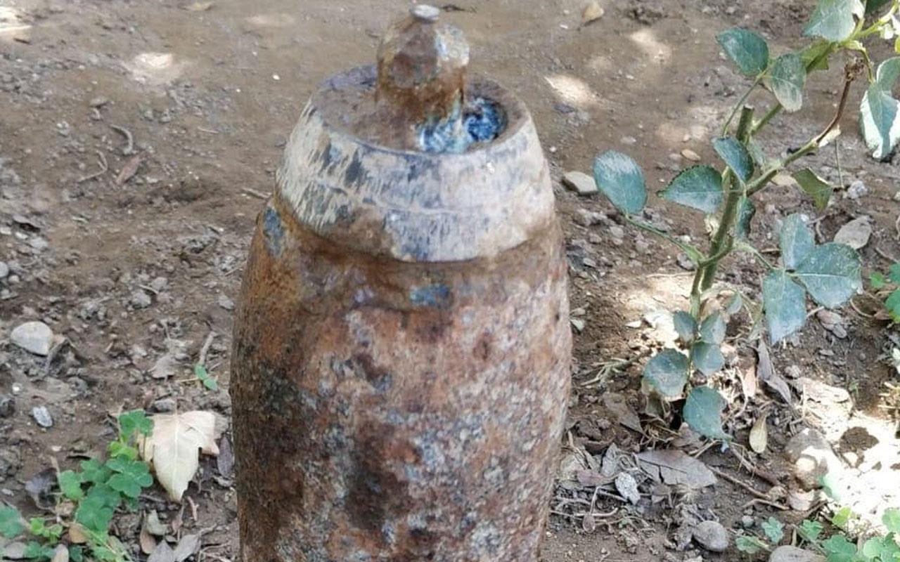 Kurtuluş savaşından kaldığı sanılan top mermisi bulundu