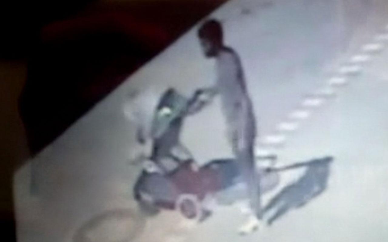 Bebek arabası hırsızı son işinde yakalandı