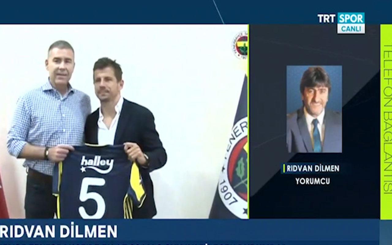 Rıdvan Dilmen'den canlı yayında Emre Belözoğlu açıklaması