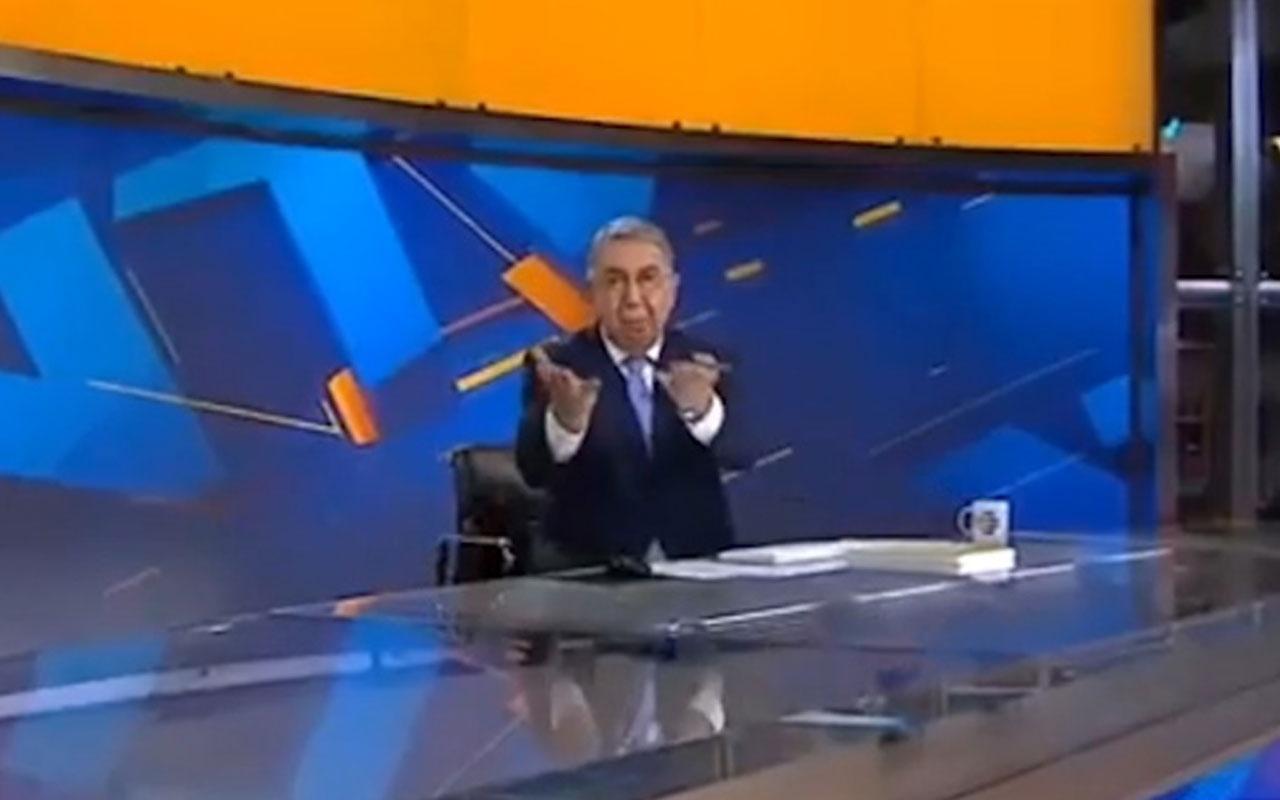 NTV spikeri Oğuz Haksever'in tepkisi canlı yayına yansıdı