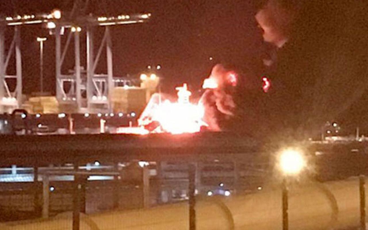 İzmir'de gemide patlama! Ölü ve yaralılar var