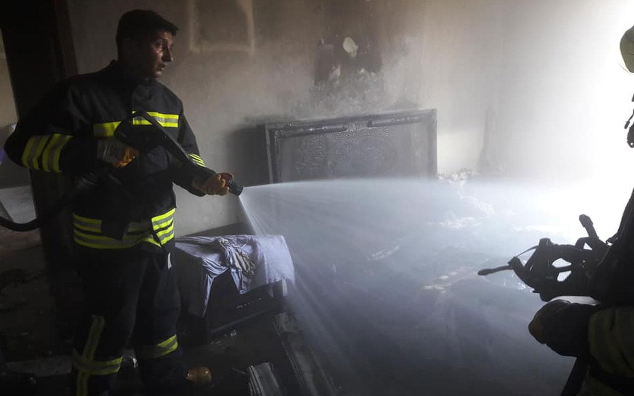 Samsun'da yangında kül olan odada bir tek o yanmadı!