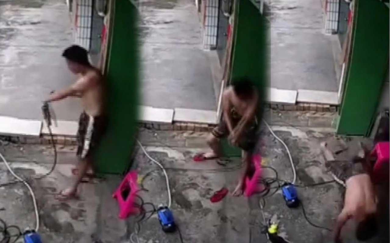 Çin'de elektrik akımına kapılan adam kendi çabası ile bakın nasıl kurtuldu