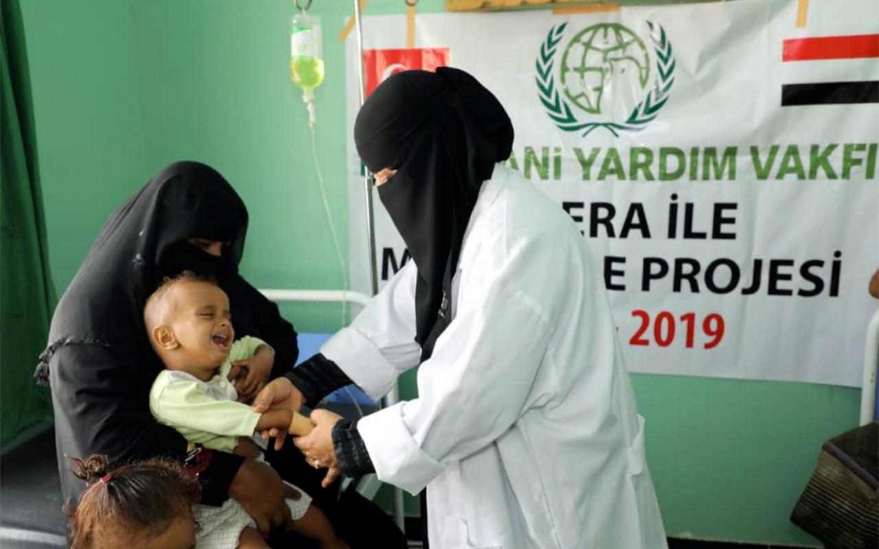 İHH İnsani Yardım Vakfı'ndan Yemen'de kolera ile mücadele