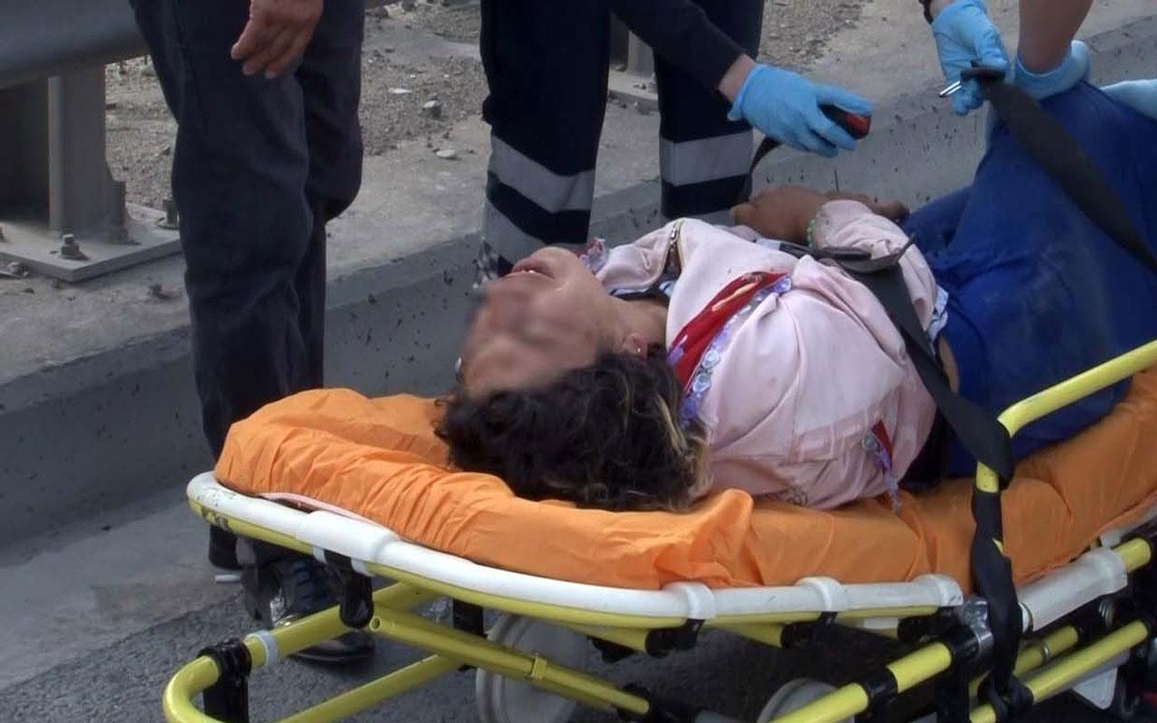 TEM Bağlantı yolu üzerinde yatan kadın polisi alarma geçirdi