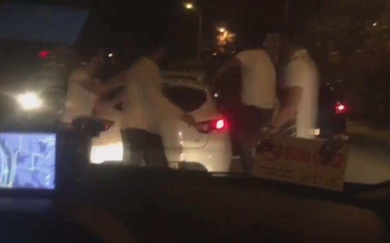 İstanbul Şişli'de trafikte akılalmaz görüntüler