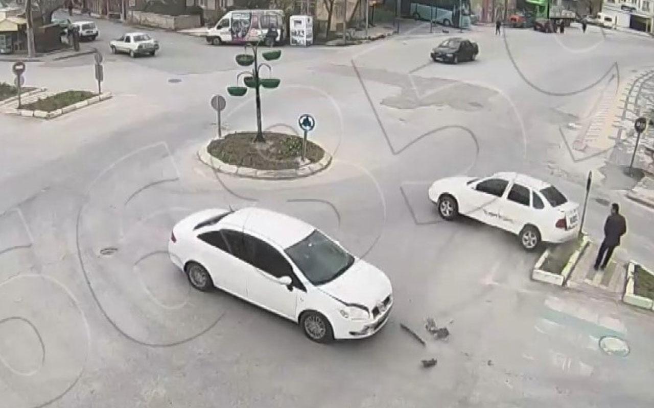 Kütahya'da saniye saniye kaza anları
