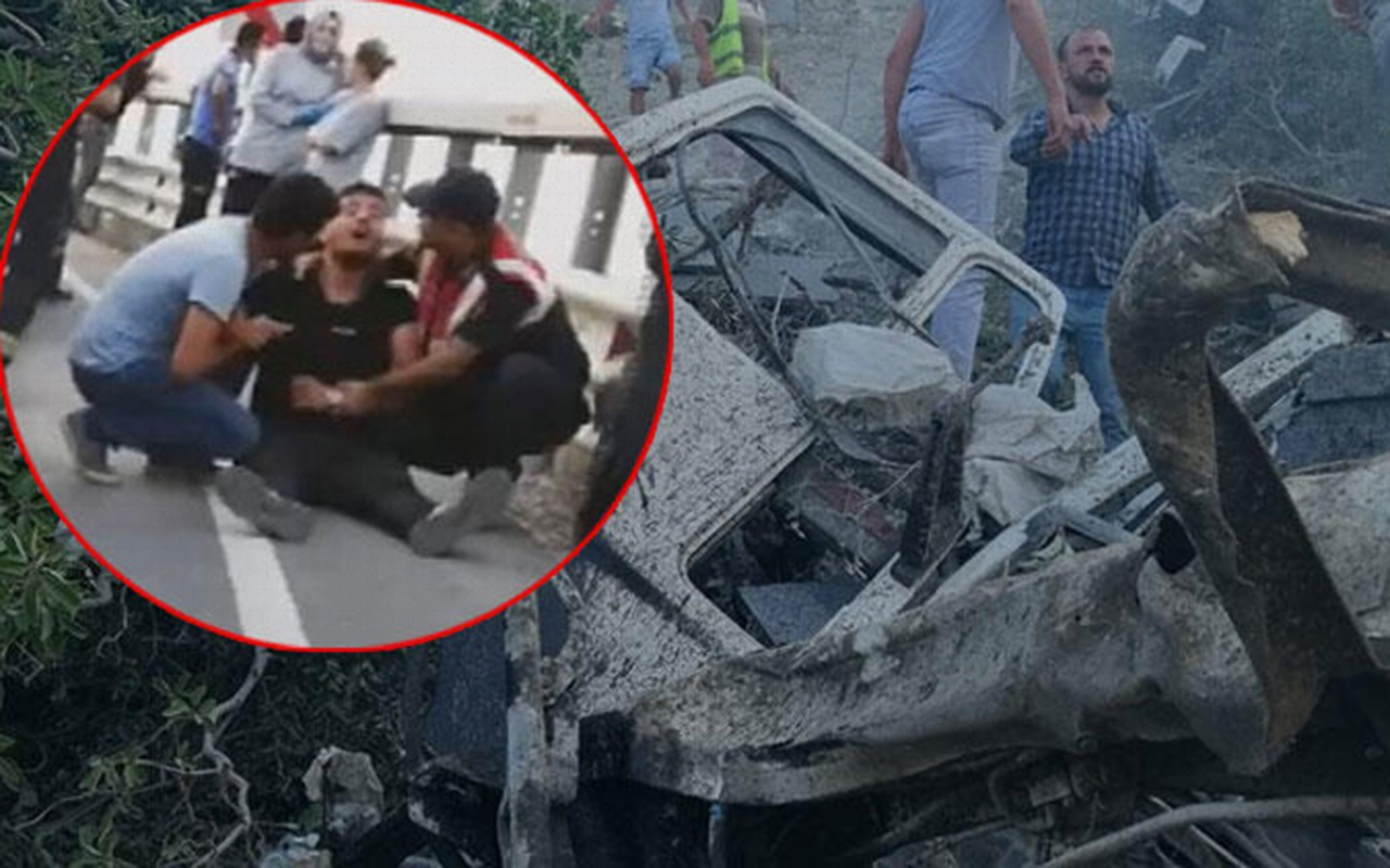 Bursa'da 200 metrelik uçuruma yuvarlanan TIR'ın sürücüsü öldü