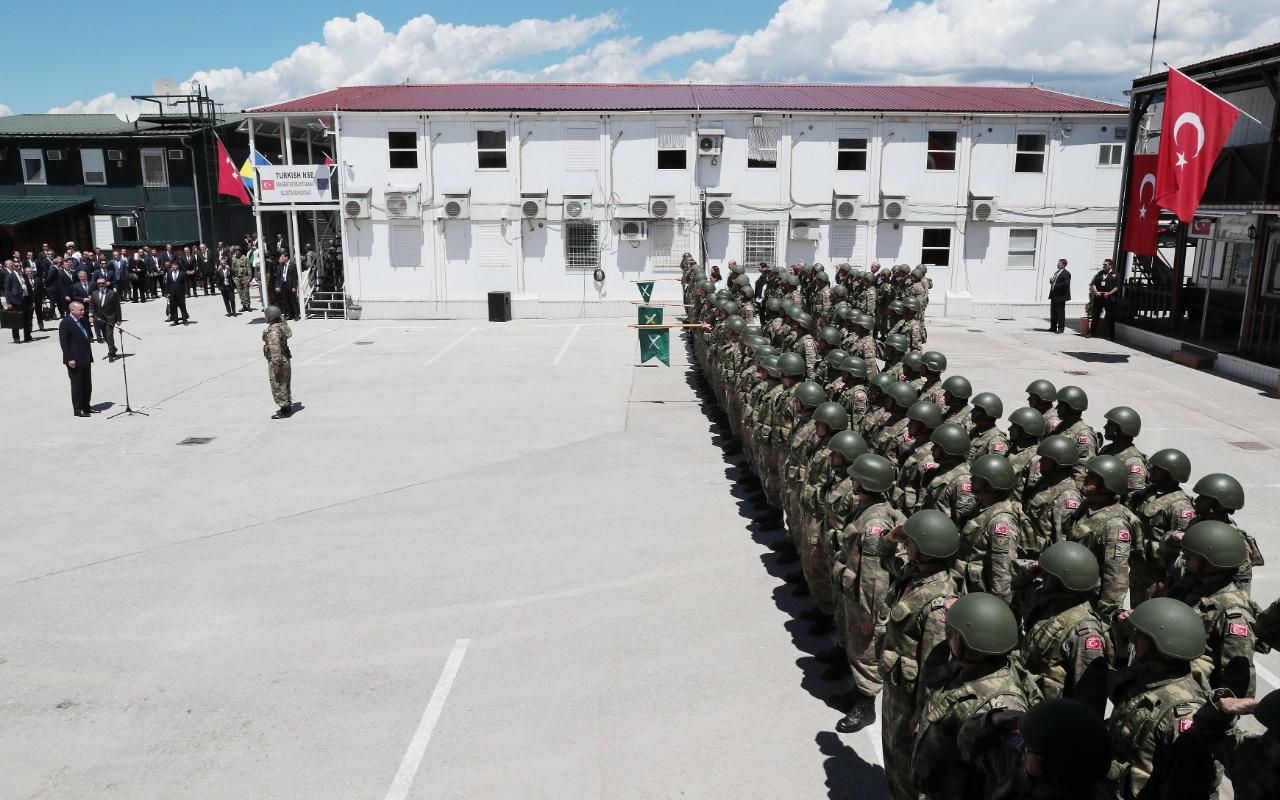 Cumhurbaşkanı Erdoğan Bosna'da Barış Gücü'nde görevli Türk askerlerini ziyaret etti