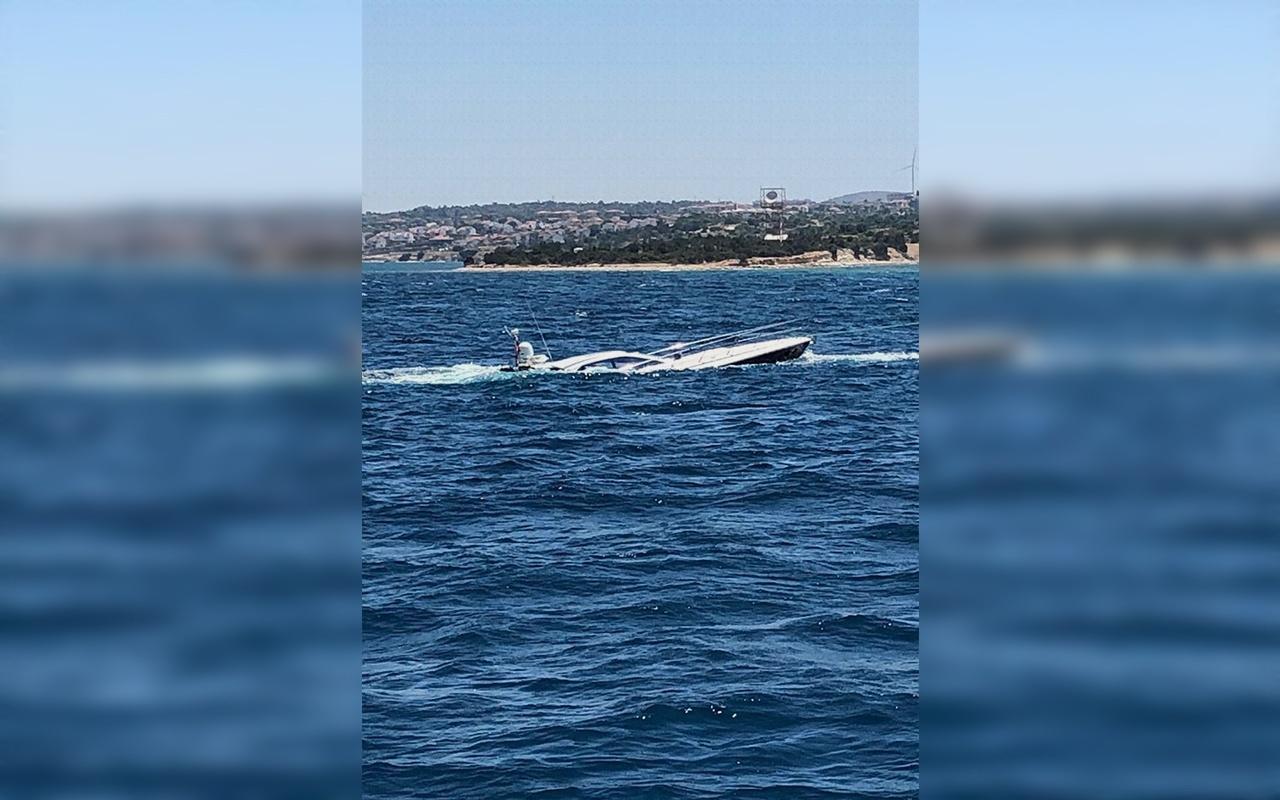 İzmir Çeşme'de kaza yapan lüks tekneye hayati operasyon
