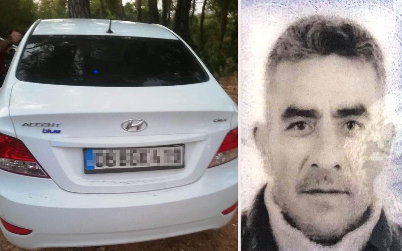 Antalya'da ormanlık alanda otomobilinde ölü bulundu!