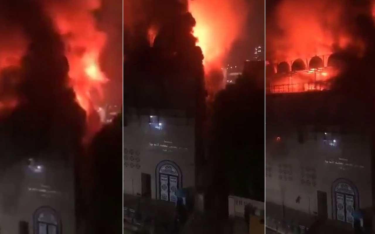 Mısır'da kilisede büyük yangın