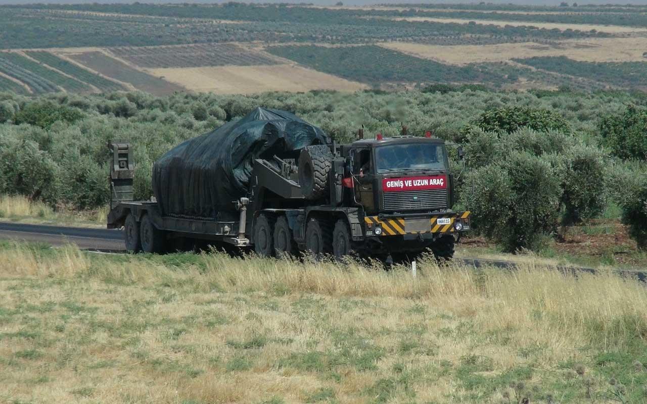 Kilis Suriye sınırına askeri sevkiyat