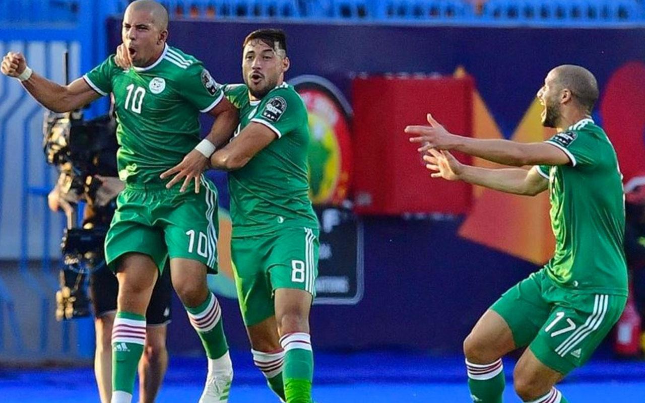 Penaltılara giden maçta Cezayir yarı finalde