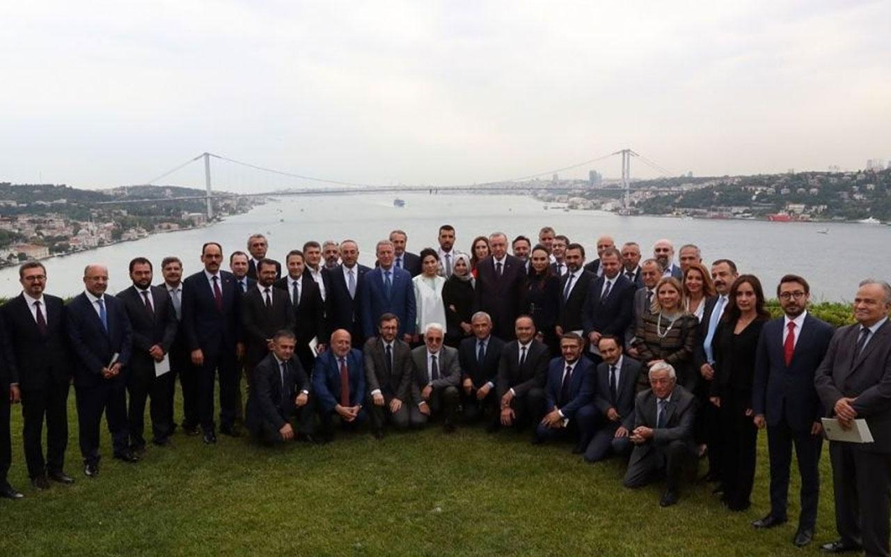 Cumhurbaşkanı Erdoğan genel yayın yönetmenleriyle toplantı yaptı