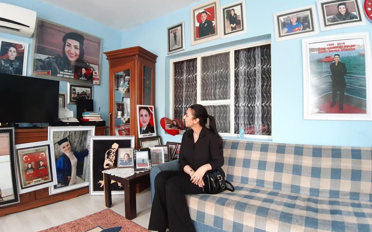 Şehit polis Sevda Güngör'ün anne ve babası kızlarının hatıralarını yaşatıyor