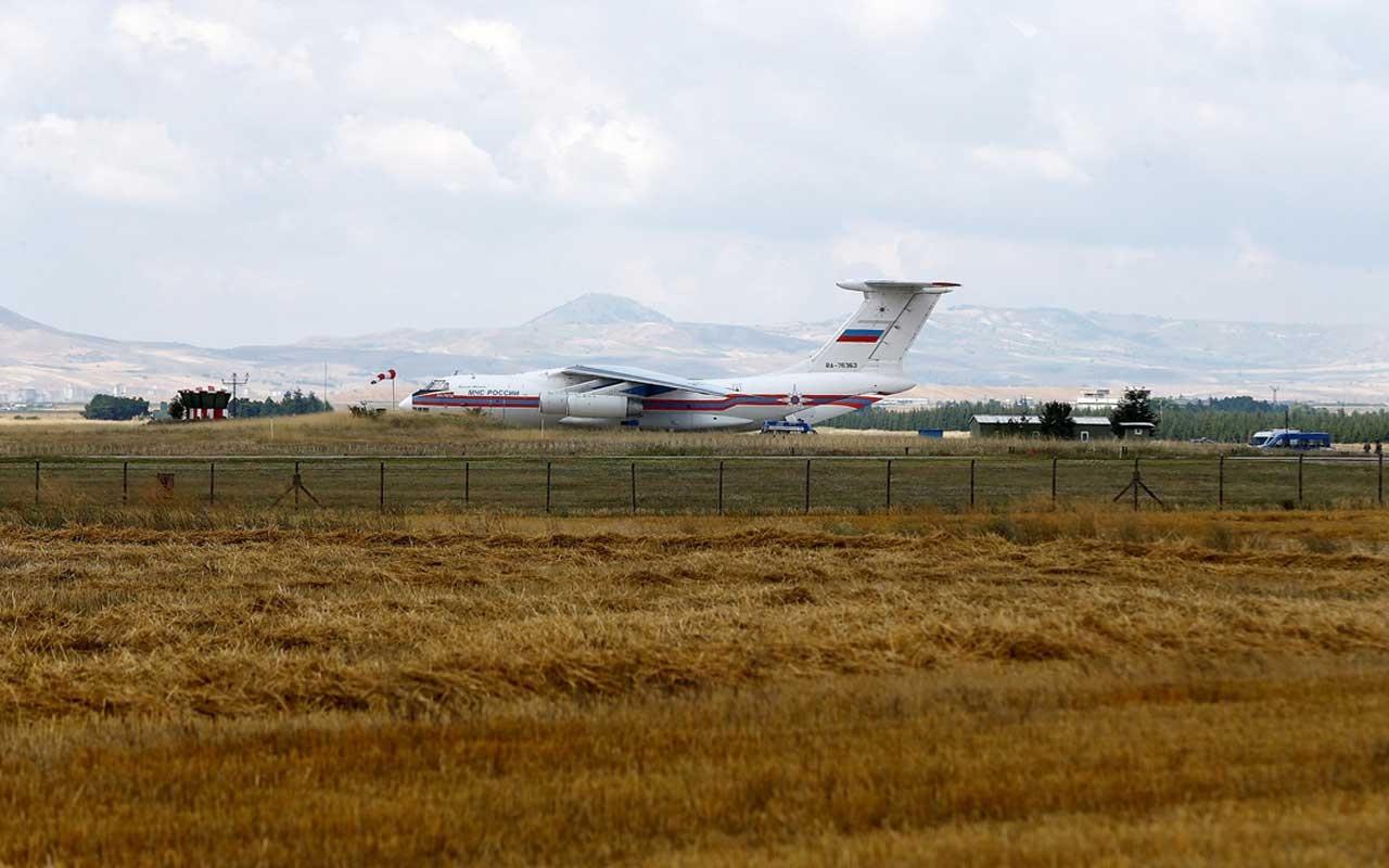 S-400 sevkıyatında 4. gün Rus uçağı da Ankara'daki Mürted Üssü'ne iniş yaptı