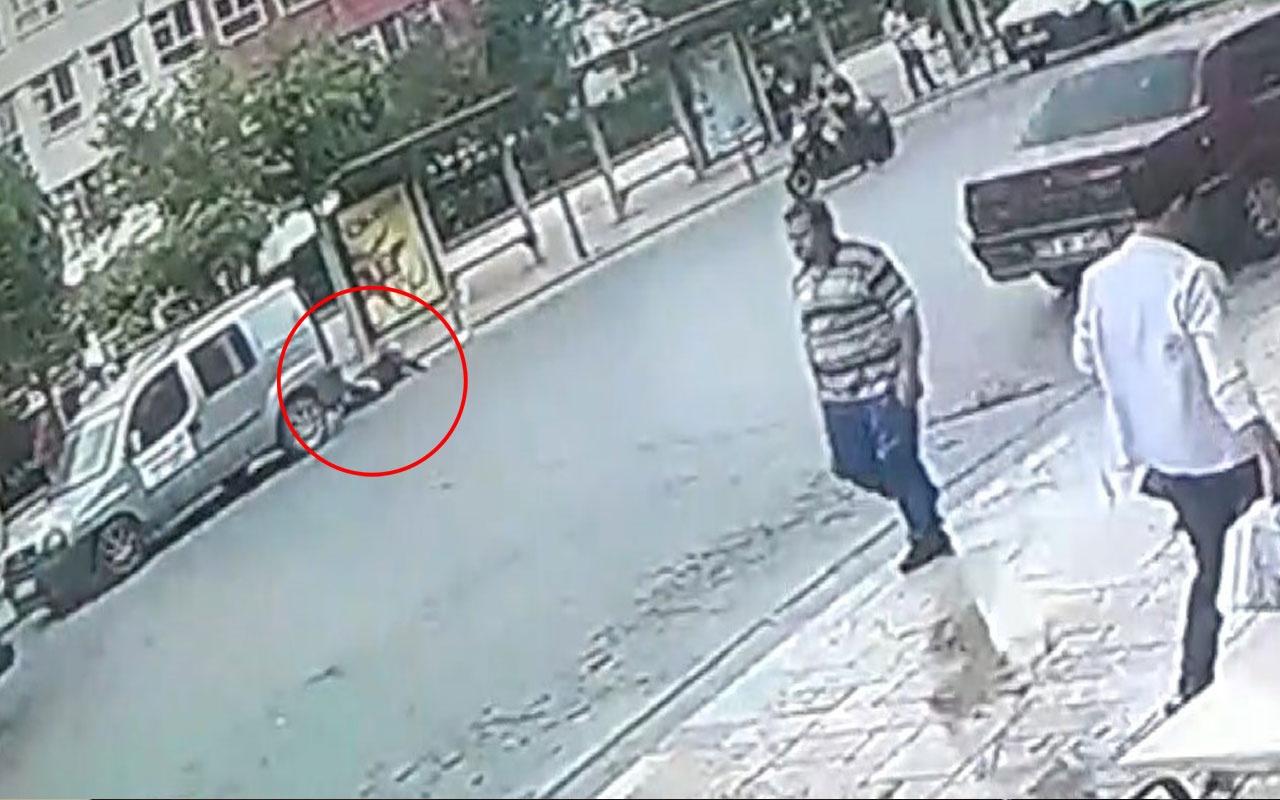 Kadına aracın çarptığı anlar güvenlik kamerasında
