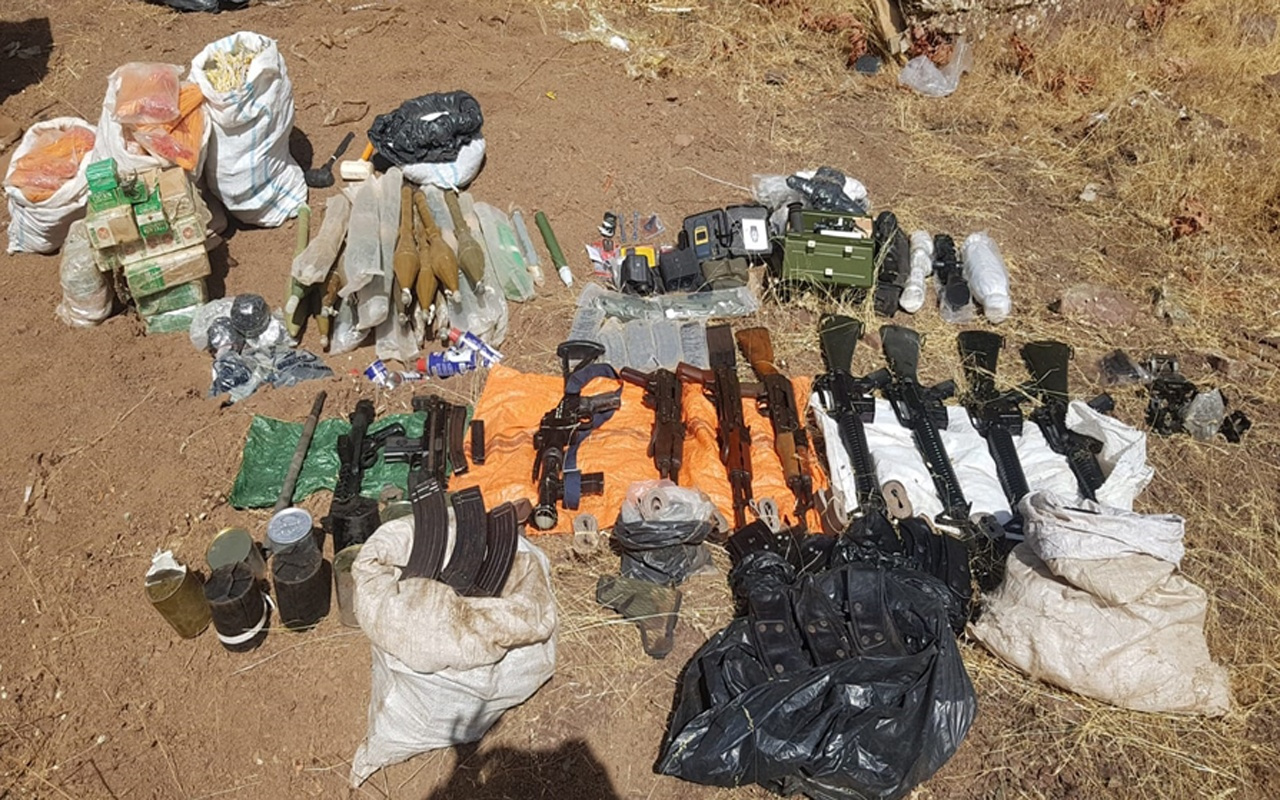 Pençe Harekatı'nda ele geçirilen terör örgütünün silah ve mühimmatları imha edildi