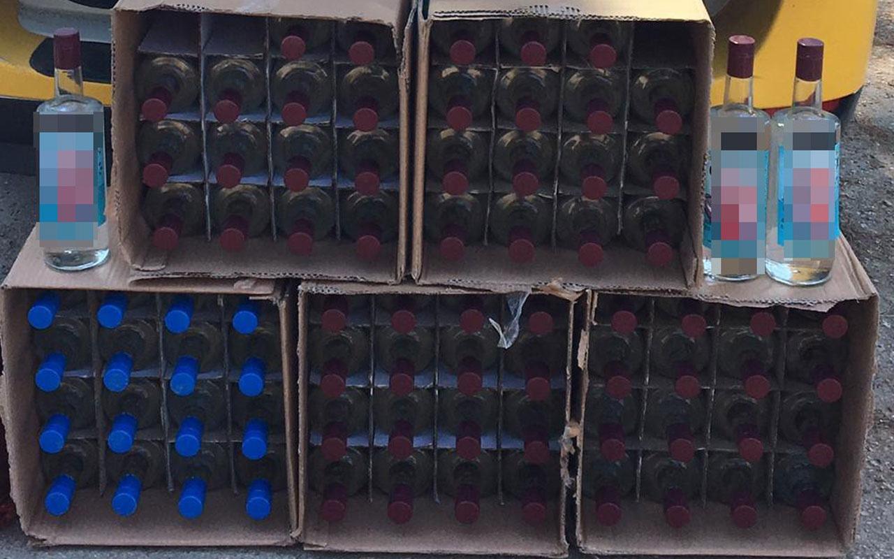 Kahramanmaraş'ta 80 şişe kaçak alkol ele geçirildi