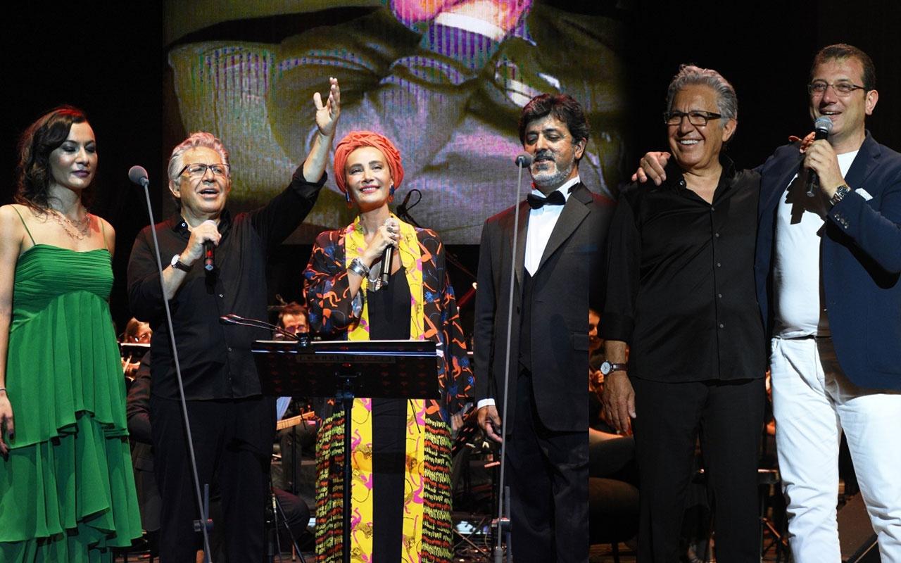 Zülfü Livaneli konserine ünlü akını! İBB başkanı Ekrem İmamoğlu da oradaydı