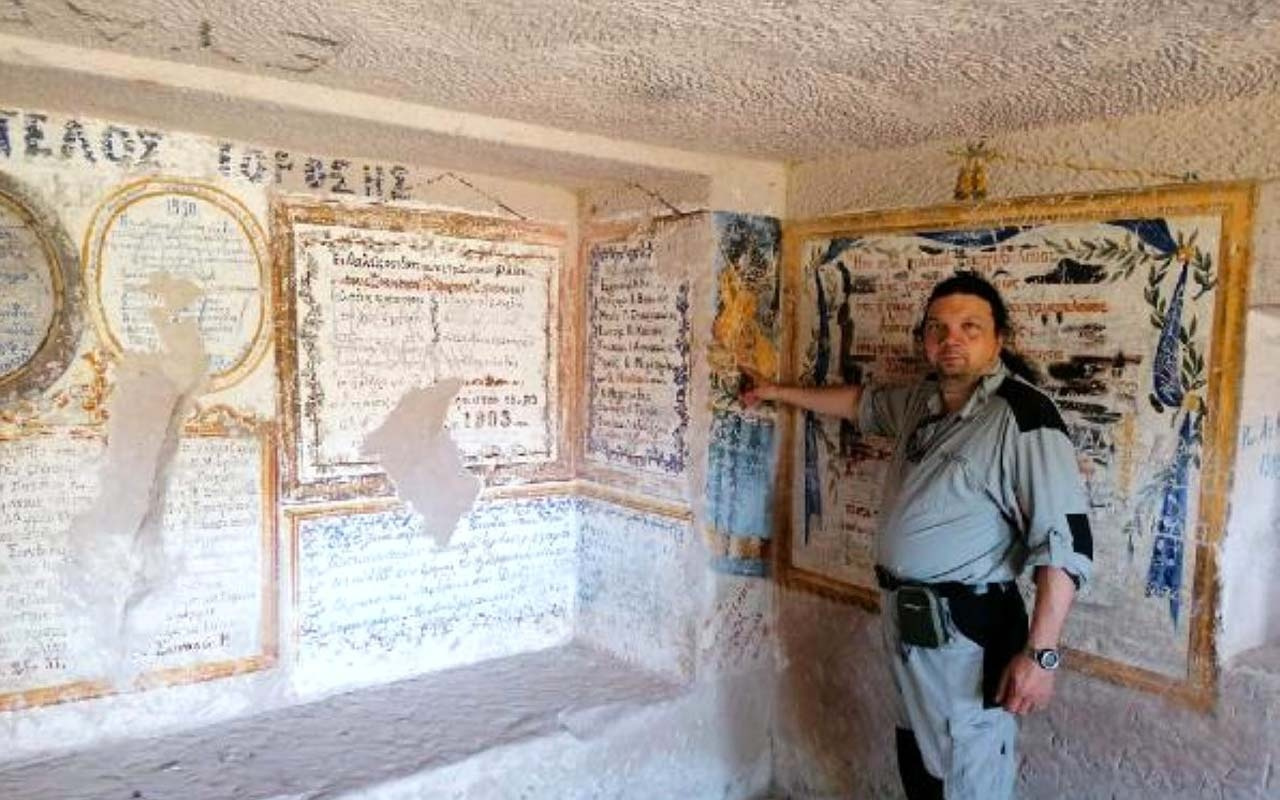 Ürgüp'te tüf kayalara oyulmuş tarihi Rum misafirhanesi! Turizme kazandırılmayı bekliyor