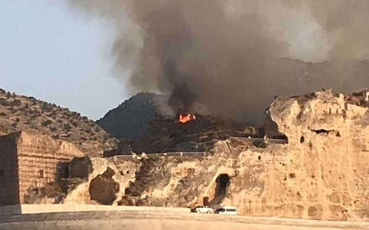 Hasankeyf'te yangın çıktı
