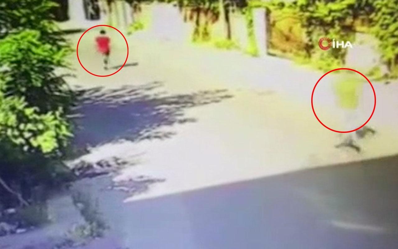 Su sayacı hırsızıyla apartman sakini arasındaki kovalamaca kamerada