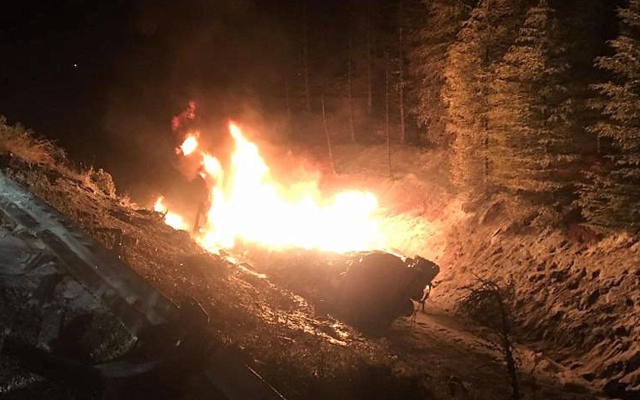 Kahramanmaraş yakıt tankeri patladı sürücü yanarak can verdi
