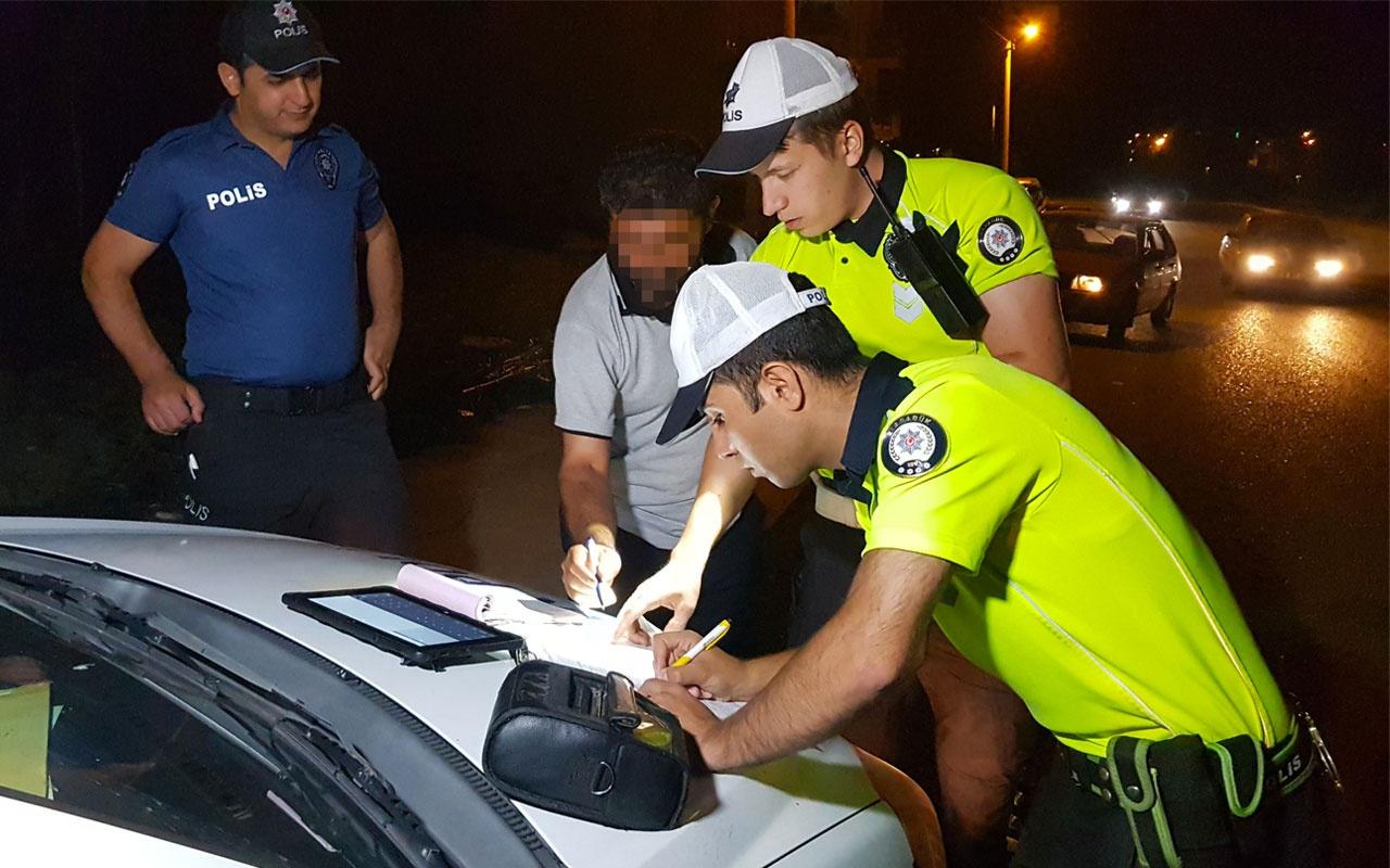 Karabük'te alkollü sürücü polisi canından bezdirdi!