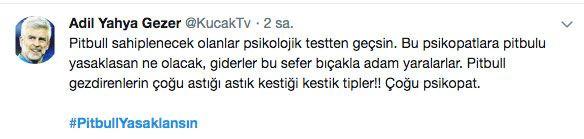 Adana'daki dehşet olay sonrası 'PitbullYasaklansın' etiketi TT oldu - Sayfa 12