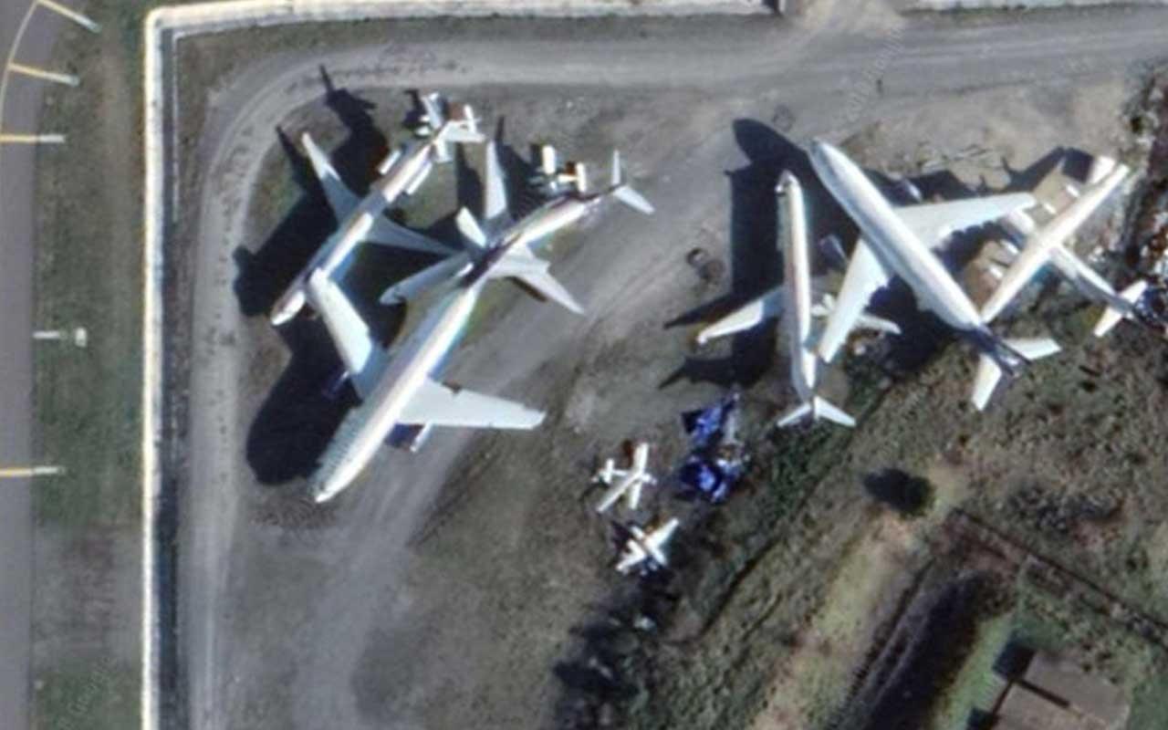 Atatürk Havalimanı apronundaki hurda uçakları