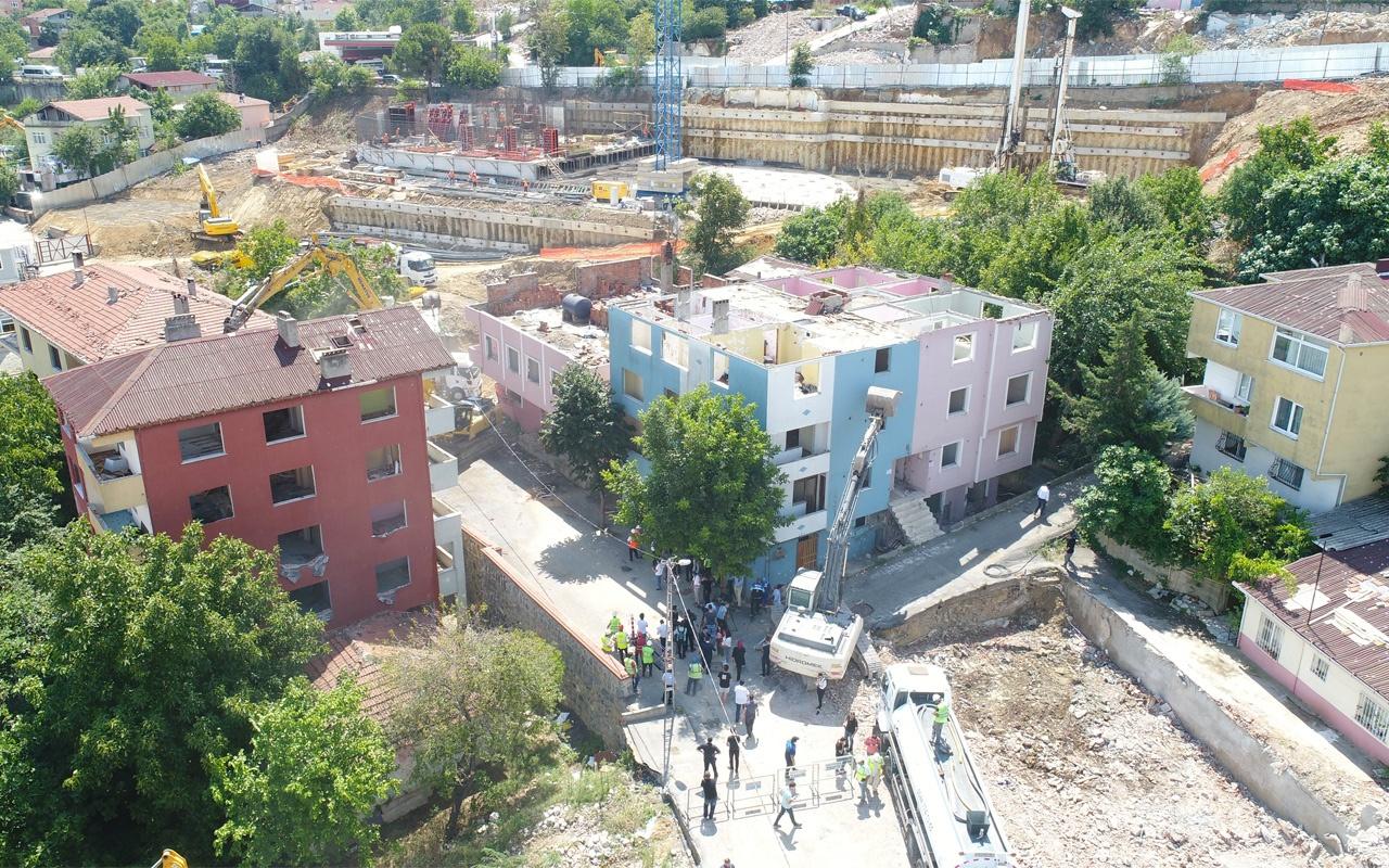 Üsküdar Kirazlıtepe'de kentsel dönüşümde toplu yıkım görüntülendi
