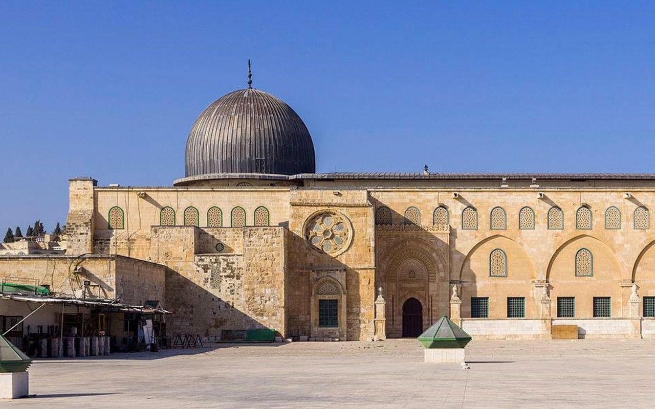 Mescid-i Aksa minberinden İsrail'in yıkım politikasına tepki