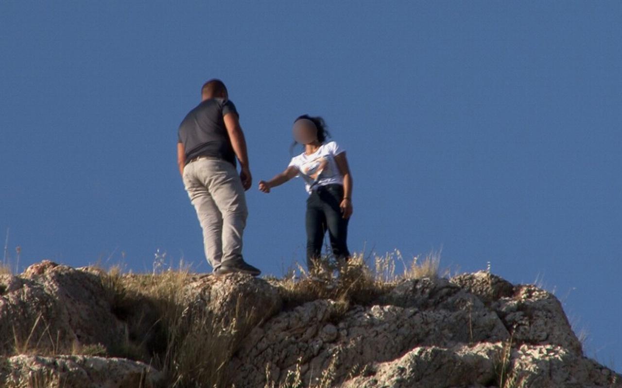 Van'da genç kız terk ettiği sevgilisini kurtardı
