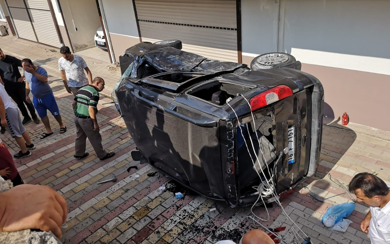 Bursa İnegöl'de feci kaza 5 yaralı
