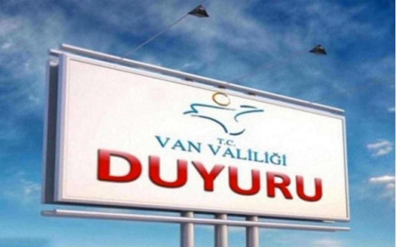 Van'da gösteri ve yürüyüşler 15 gün yasaklandı