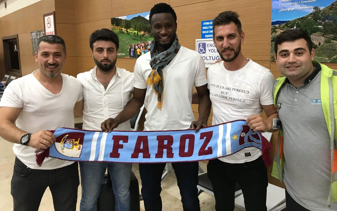 Trabzonspor'un yeni transferi Obi Mikel Trabzon'a ayak bastı