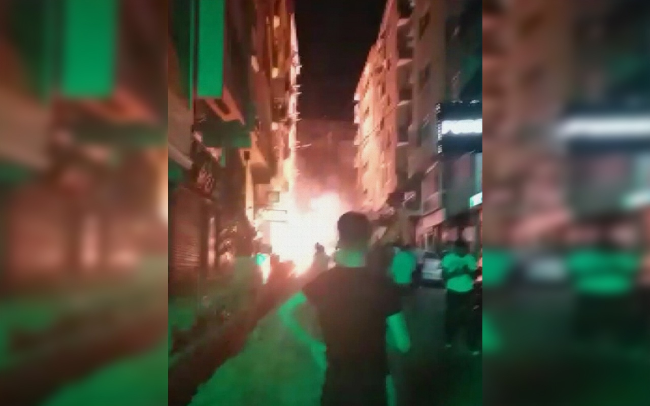 İstanbul Şirinevler'de kablolardaki patlamalar korkuttu