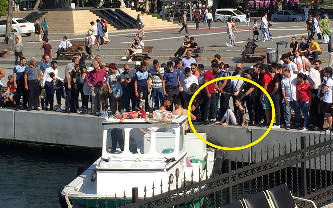 İstanbul Kadıköy'de denize düşen iki kadın kurtarıldı