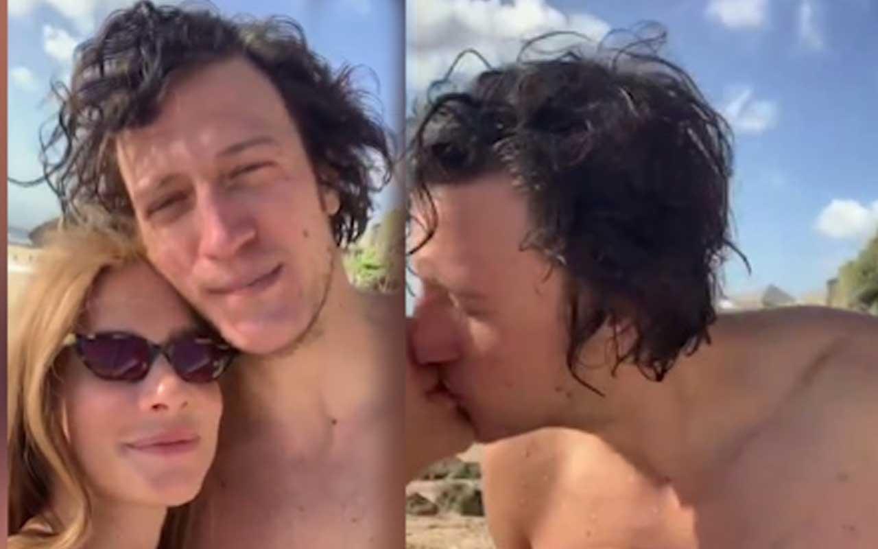 Müge Boz eşi Caner Erdeniz ile öpüştüğü anları paylaştı!