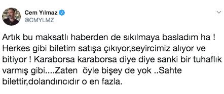 Cem Yılmaz'ın hayranlarına 4 dakika şoku! Karaborsa iddiaları sinirlendirdi