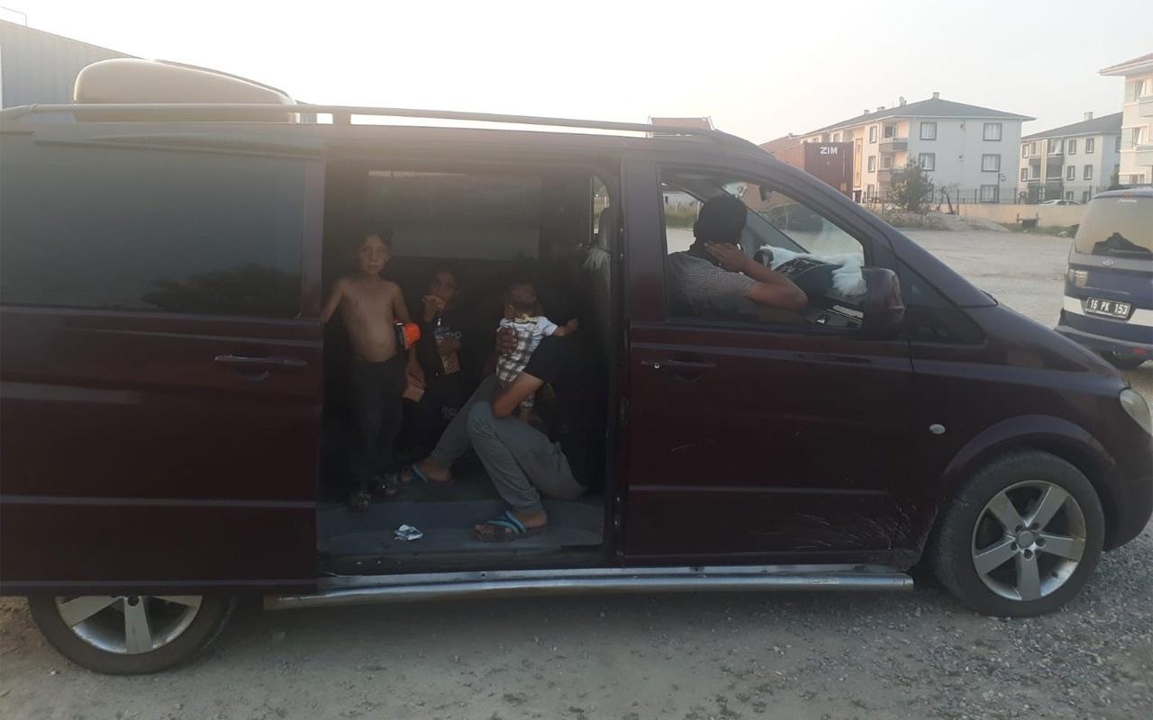 İnegöl'de dilenciler lüks araçta yakalandı