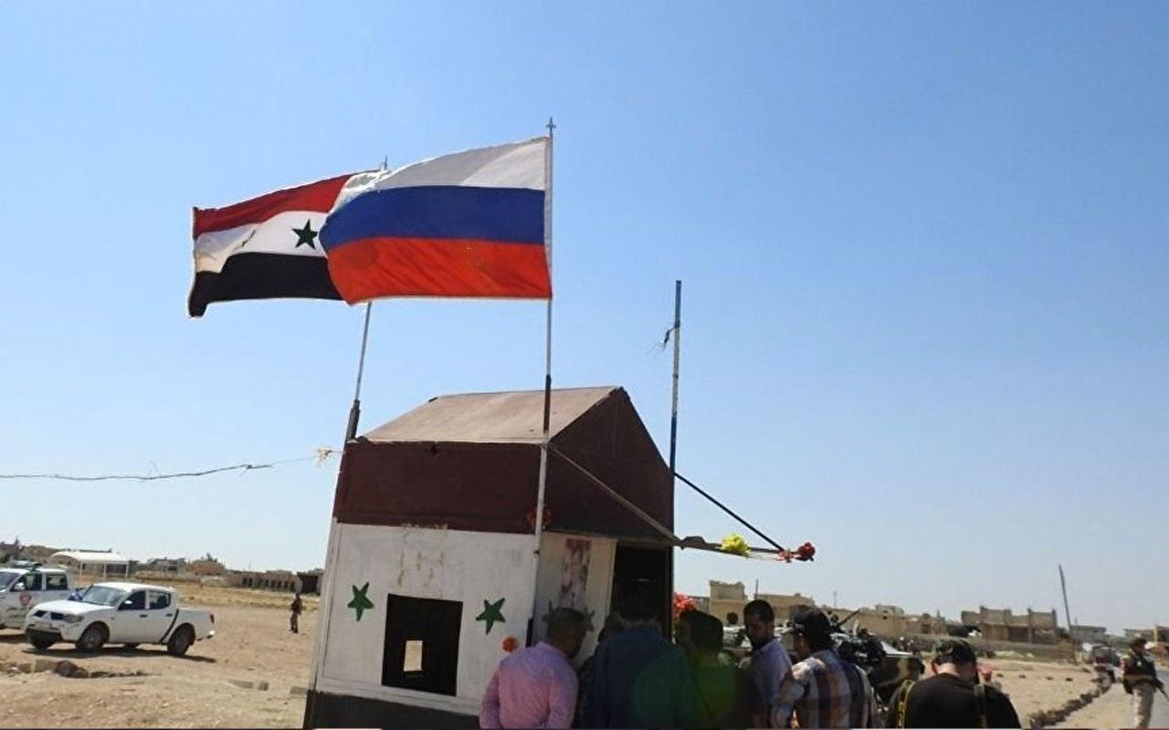Rusya Suriye'deki militanların topçu güçlerini böyle imha etti!