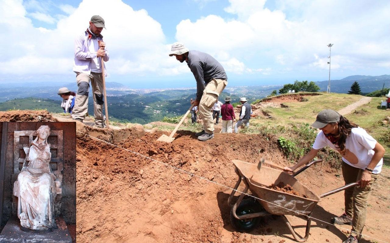 Ordu'da 'Ana Tanrıça Kibele' heykelinin bulunduğu kalede kazı yeniden başladı