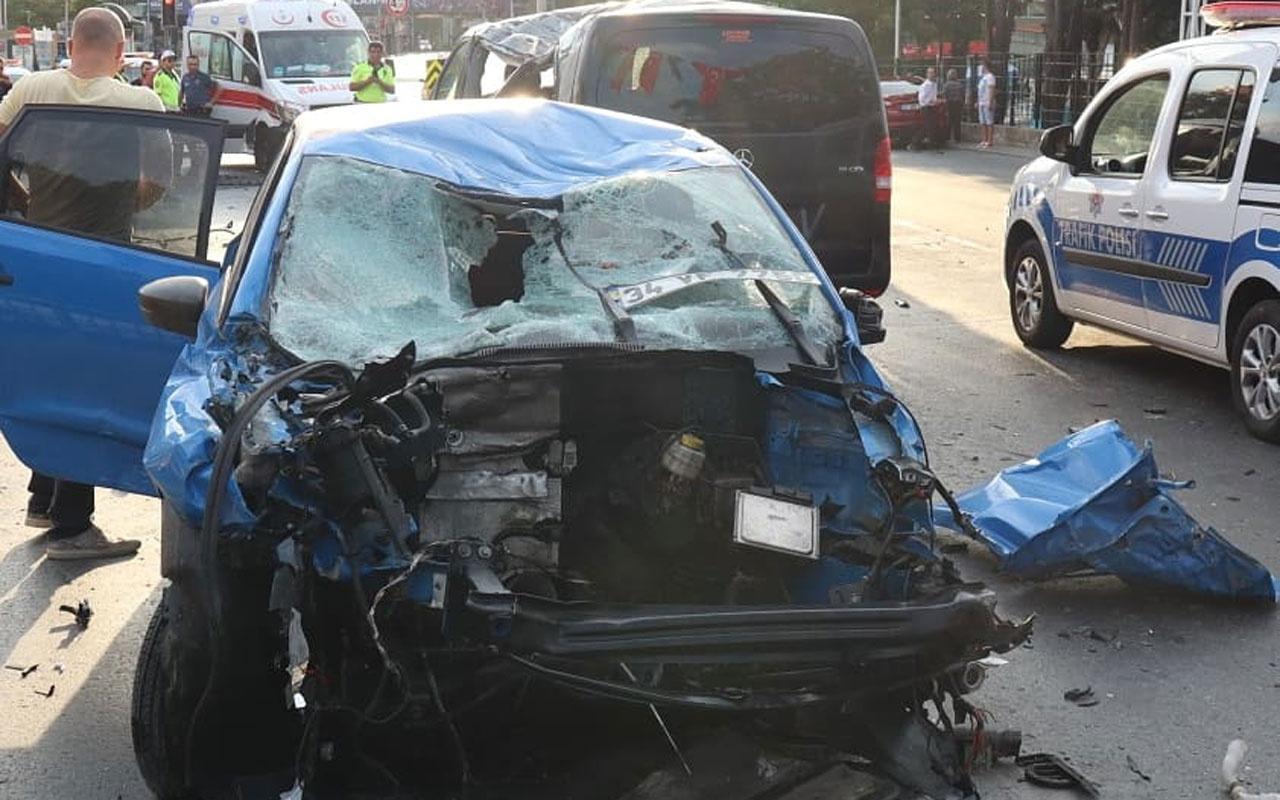Beşiktaş'ta trafik kazası! Bariyerleri aşıp karşı şerde geçti